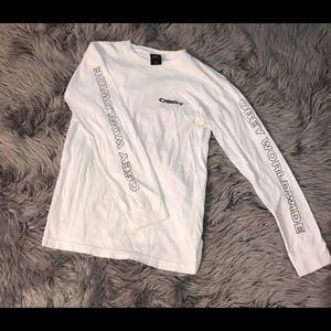 Obey white long sleeve